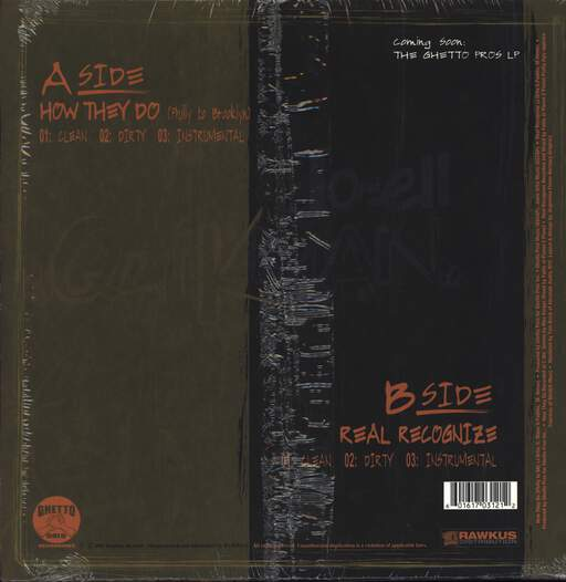 "Jo-Ell Quikman: How They Do (From PA To BK) / Real Recognize, 12"" Maxi Single (Vinyl)"