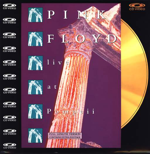 Pink Floyd: Live At Pompeii (Full Length Version), LaserDisk