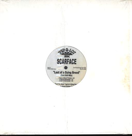 "Scarface: Last Of A Dying Breed (Hot Club Wax), 12"" Maxi Single (Vinyl)"