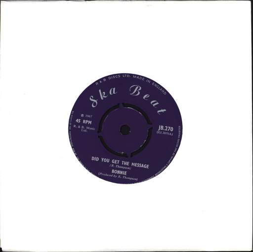 "Bonnie: Did You Get The Message / A Man Called Dan, 7"" Single (Vinyl)"