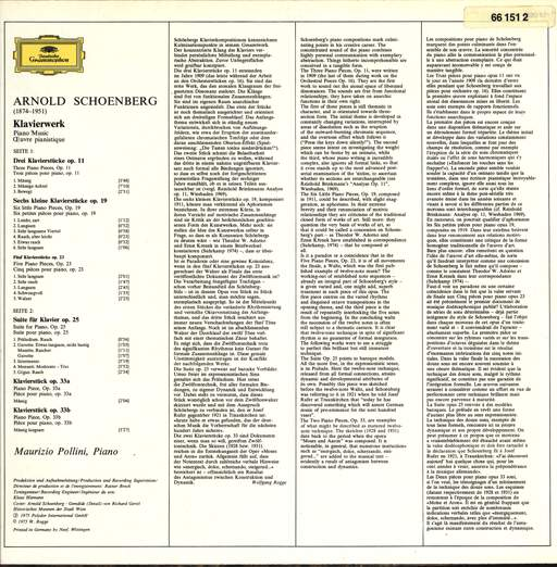 Arnold Schoenberg: Das Klavierwerk • The Piano Music, LP (Vinyl)