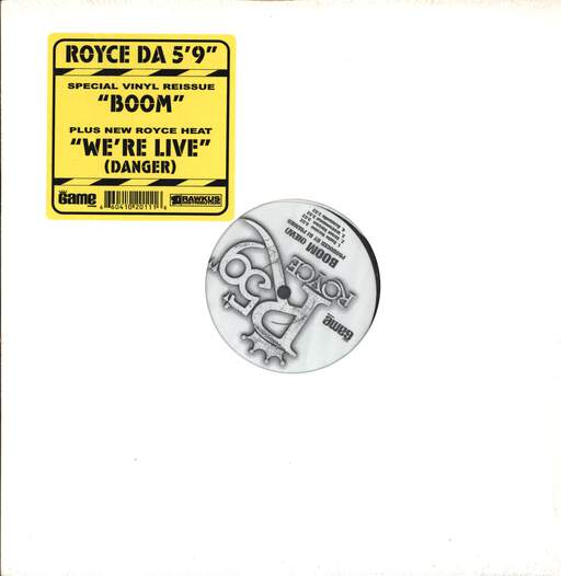 "Royce Da 5'9 "": Boom (New) / We're Live (Danger), 12"" Maxi Single (Vinyl)"