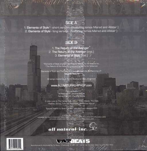 "All Natural: Elements Of Style, 12"" Maxi Single (Vinyl)"