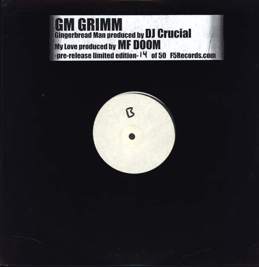 "Mf Grimm: Gingerbread Man, 12"" Maxi Single (Vinyl)"