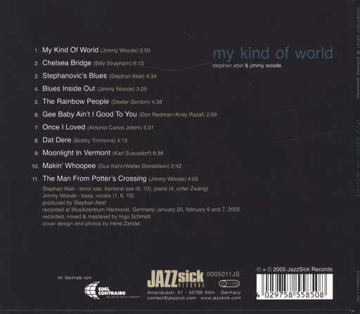 Stefan Abel: My Kind Of World, CD