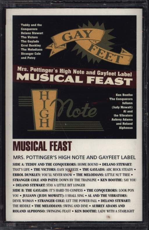 Various: Musical Feast: Mrs. Pottinger's High Note And Gayfeet Label, Compact Cassette