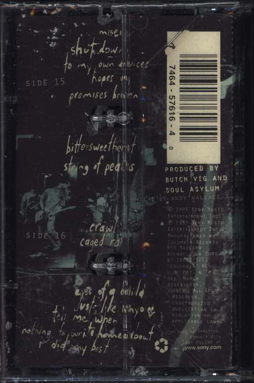 Soul Asylum: Let Your Dim Light Shine, Compact Cassette
