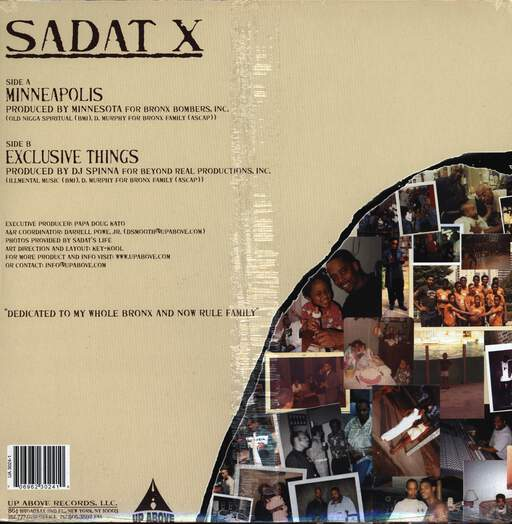 "Sadat X: Minneapolis / Exclusive Things, 12"" Maxi Single (Vinyl)"
