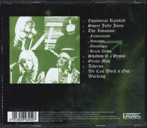 Ache: Green Man, CD