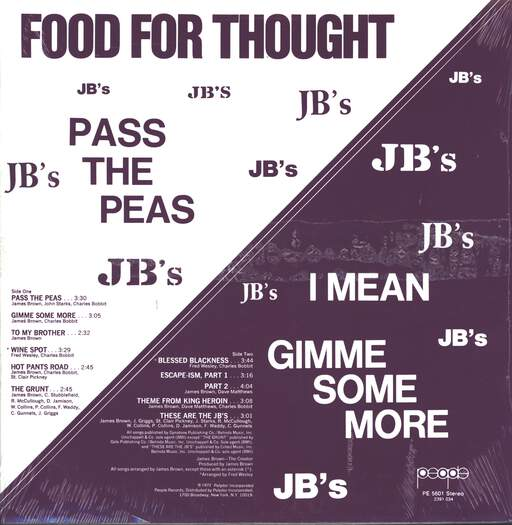 The J.B.'s: Food For Thought, LP (Vinyl)