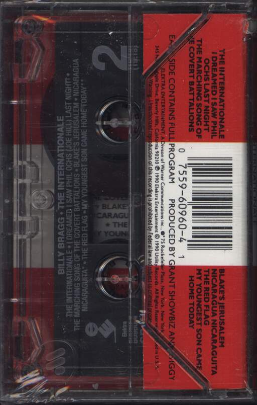 Billy Bragg: The Internationale, Compact Cassette