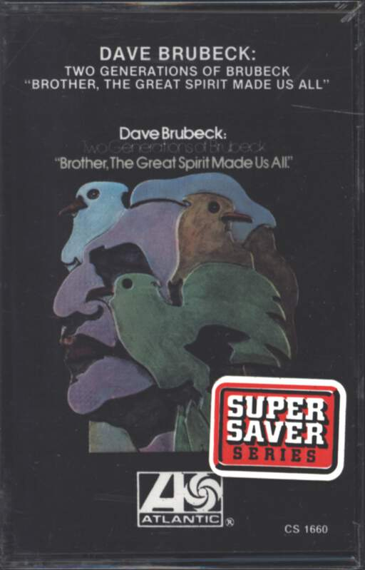 "Dave Brubeck: Two Generations Of Brubeck "" Brother, The Great Spirit Made Us All""., Compact Cassette"