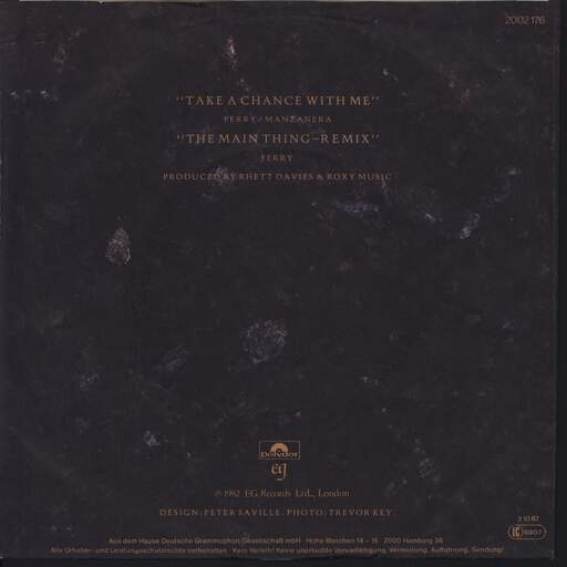 "Roxy Music: Take A Chance With Me, 7"" Single (Vinyl)"