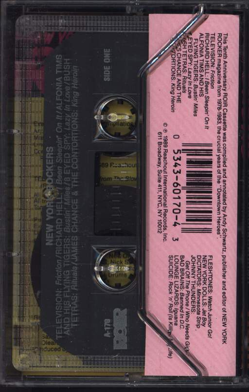 Various: New York Rockers, Compact Cassette