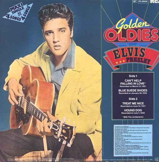 "Elvis Presley: Golden Oldies, 12"" Maxi Single (Vinyl)"