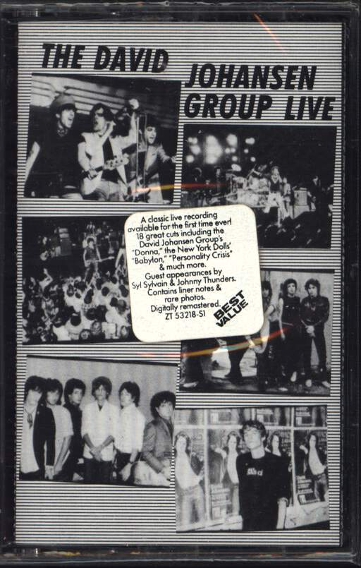 David Johansen Group: Live, Compact Cassette
