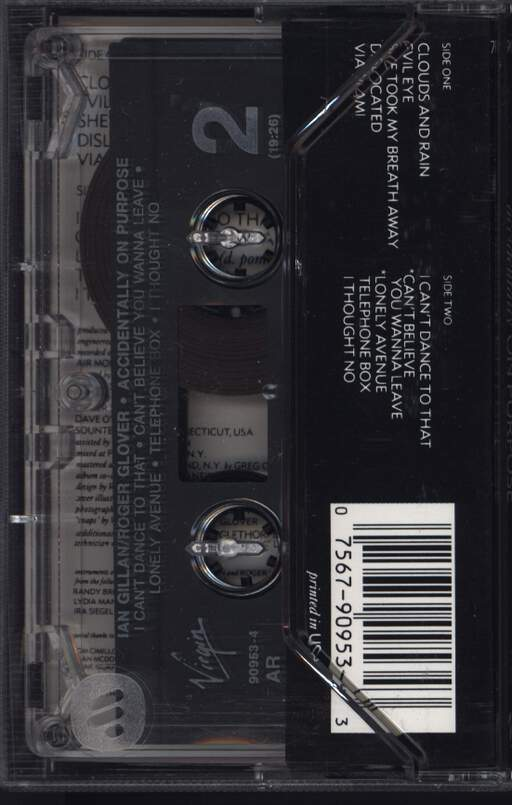 Gillan & Glover: Accidentally On Purpose, Compact Cassette