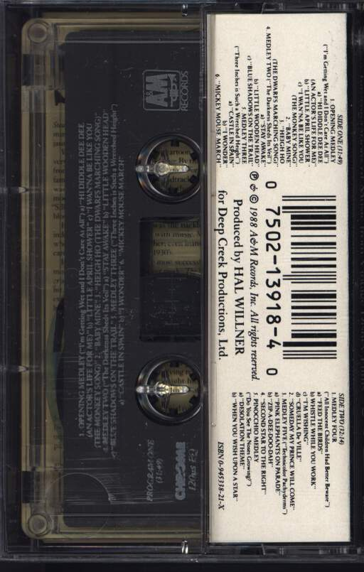 Various: Stay Awake (Various Interpretations Of Music From Vintage Disney Films), Compact Cassette