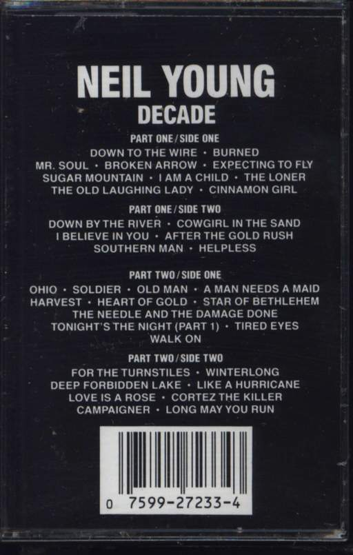 Neil Young: Decade, Compact Cassette