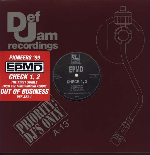 "Epmd: Check 1, 2 / Crossover, 12"" Maxi Single (Vinyl)"