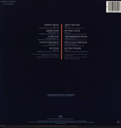 Roxy Music: The Atlantic Years 1973 - 1980, LP (Vinyl)