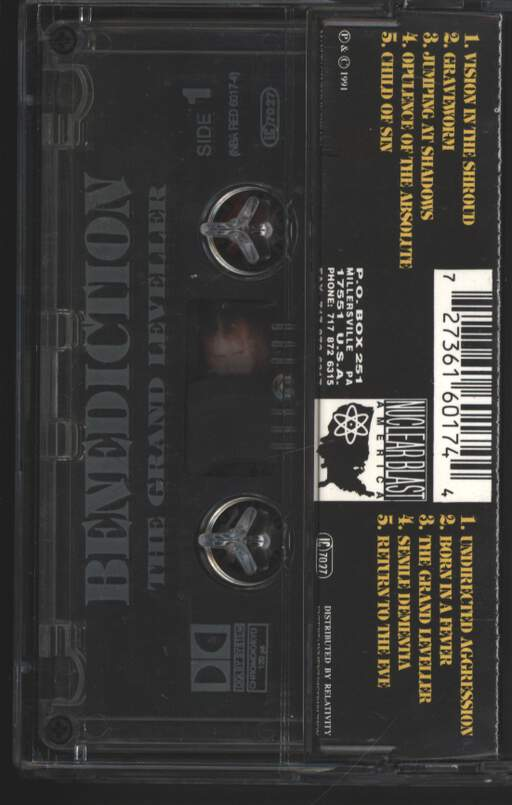 Benediction: The Grand Leveller, Compact Cassette