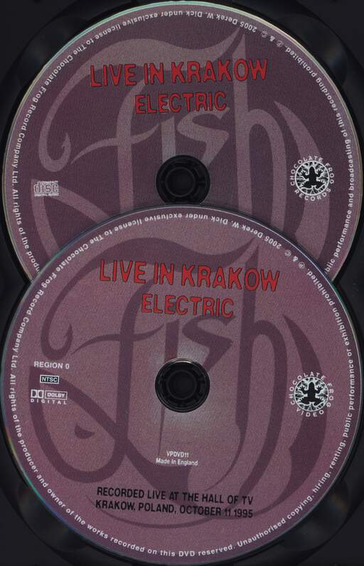 Fish: Live In Krakow Electric (Edited Version), DVD