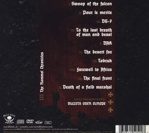 Hail Of Bullets: III The Rommel Chronicles, CD