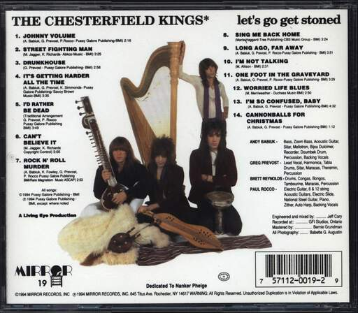 The Chesterfield Kings: Let's Go Get Stoned, CD