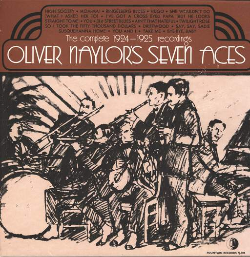 OLIVER NAYLOR'S SEVEN ACES - The Complete 1924 - 1925 Recordings - 33T