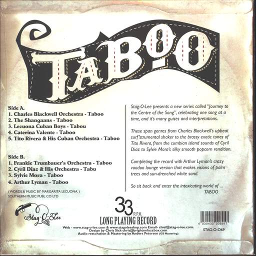 Various Taboo - An Exploration Into The Exotic World Of Taboo Volume 1