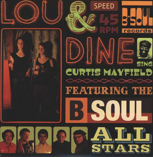 LOU & DINE - Sing Curtis Mayfield - 45T (SP 2 titres)