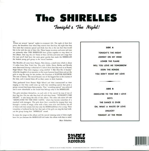 The Shirelles Tonight's The Night