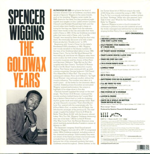 Spencer Wiggins The Goldwax Years