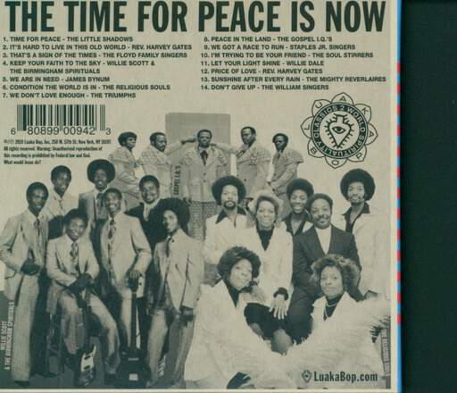 Various World Spirituality Classics 2 – The Time For Peace Is Now: Gospel Music About Us