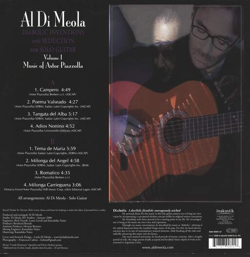Al Di Meola Diabolic Inventions And Seduction For Solo Guitar Volume I (Music Of Astor Piazzolla)