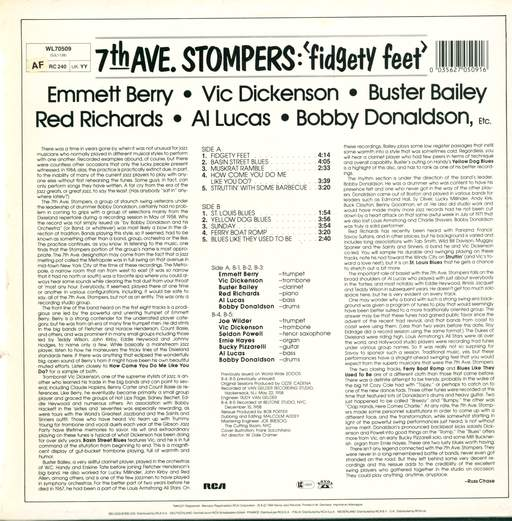 7th Ave. Stompers Fidgety Feet