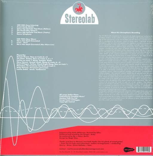 Stereolab The Groop Played ''Space Age Batchelor Pad Music''