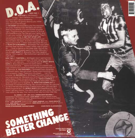 D.O.A. Something Better Change