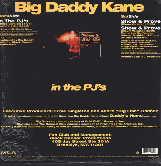 "Big Daddy Kane: In The PJ's, 12"" Maxi Single (Vinyl)"