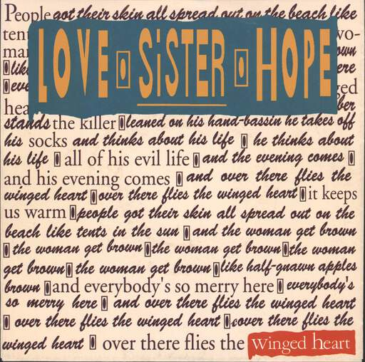 "Love Sister Hope: Winged Heart, 7"" Single (Vinyl)"