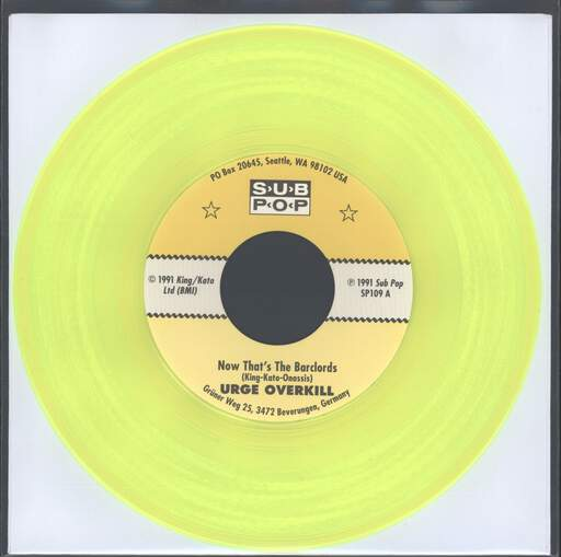 "Urge Overkill: Now That's The Barclords, 7"" Single (Vinyl)"