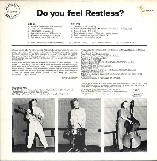 Restless: Do You Feel Restless?, LP (Vinyl)