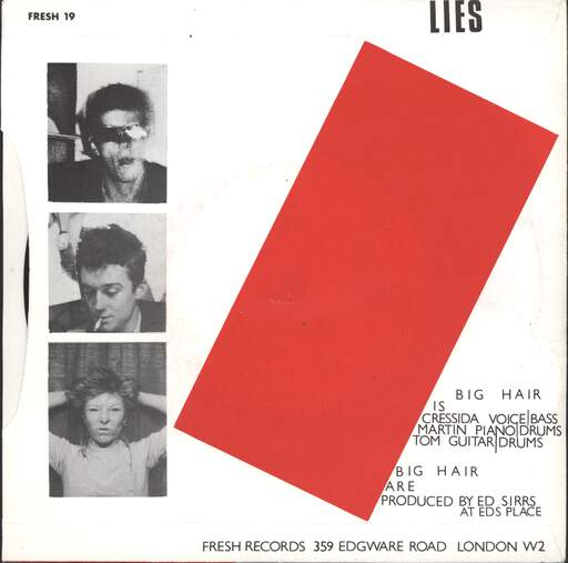 "Big Hair: Puppet On A String / Lies, 7"" Single (Vinyl)"