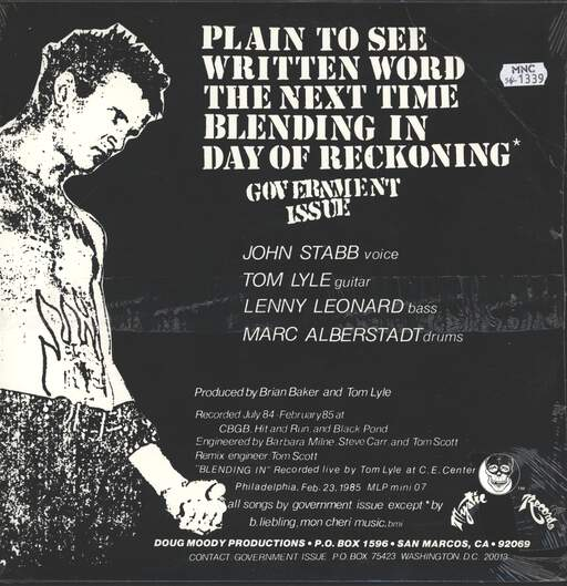 "Government Issue: Give Us Stabb Or Give Us Death, 12"" Maxi Single (Vinyl)"