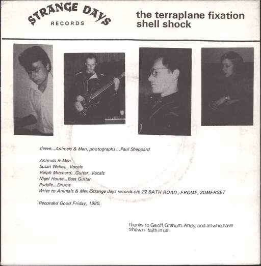 "Animals & Men: Terraplane Fixation / Shell Shock, 7"" Single (Vinyl)"
