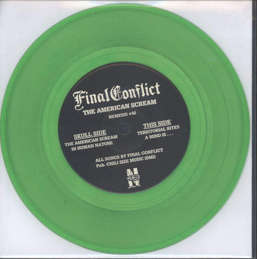 "Final Conflict: The American Scream, 7"" Single (Vinyl)"