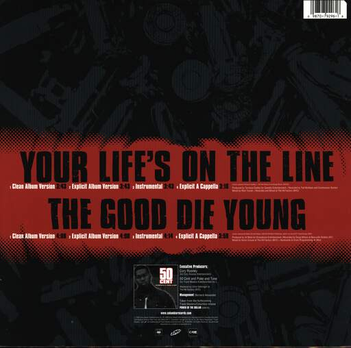 "50 Cent: Your Life's On The Line, 12"" Maxi Single (Vinyl)"