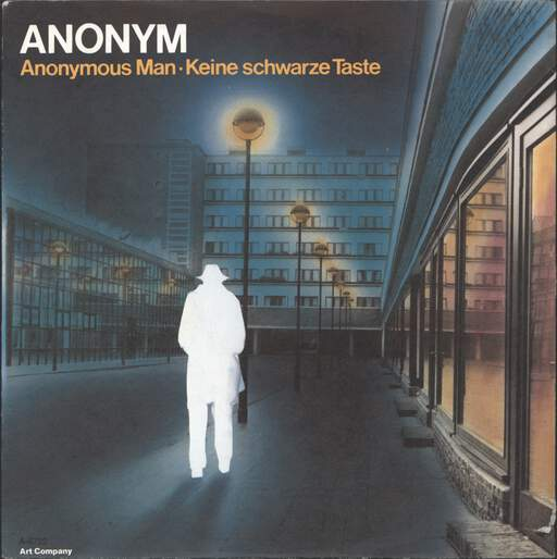 "Anonym: Anonymous Man / Keine Schwarze Taste, 7"" Single (Vinyl)"