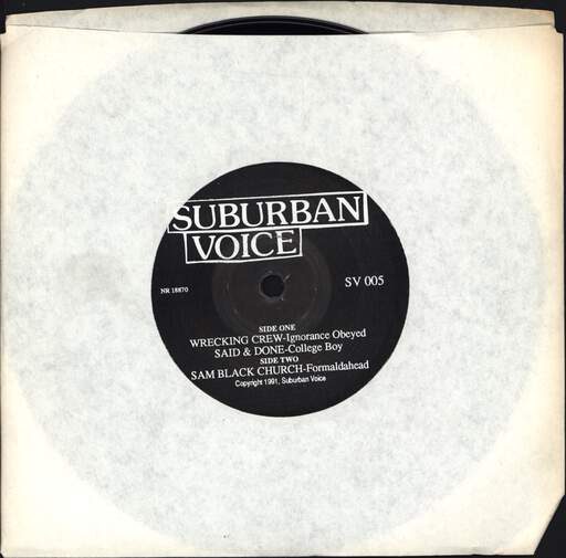 "Various: Suburban Voice, 7"" Single (Vinyl)"